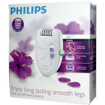 Philips HP6403 Ergonomic Washable Two-Speed Ladies Epilator w/Spare Head - Lilac