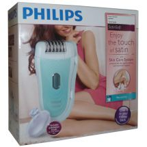 Philips HP6521 Battery Operated Wet And Dry Epilator Set Fully Washable - White