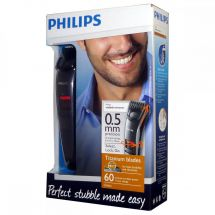 Philips QT4015 Cordless Rechargeable Stubble Beard Trimmer Titanium Blades Grey