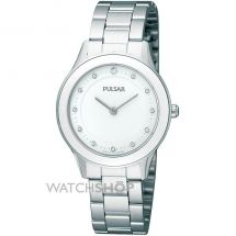 Pulsar PM2031X1 Quartz Analogue Movement Stainless Steel White Dial Ladies Watch