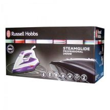 Russell Hobbs 19221 Steamglide Clothes Iron 2400w 3m Lead Self Clean New Purple