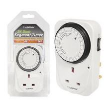 Lloytron A1206 Mechanical Segment Security Plug Timer15 Min Interval 24 Hour New
