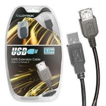 Lloytron A2323 USB Printer Scanner Extension Lead Cable 5.0m Male Female Type A