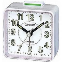 Casio TQ140 Mini Beep Analogue Alarm Clock White