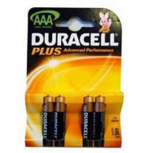 Duracell Plus Alkaline Battery AAA Standard Size 4 Pack