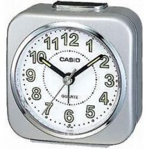 Casio Analog Beep Sound Alarm Clock Light Snooze Silver