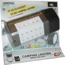 Omega 25310 LED Camping Travel Lantern Torch Spot Light Flashlight Ultra Bright