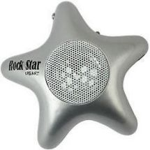 Urbanz Rockstar Rechargeable iPod Mp3 Speakers - Silver