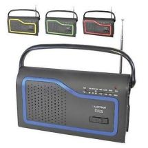 Lloytron N2402 Ibiza AM FM Portable Radio Colour Change Facia Blue Green Red New