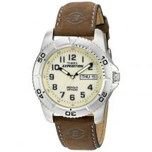 Timex T46681 Expedition Traditional Wrist Watch with Rugged Brown Leather Strap