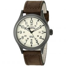 Timex T49963 Night Light Expedition Scout Analogue Watch w/ Brown Leather Strap