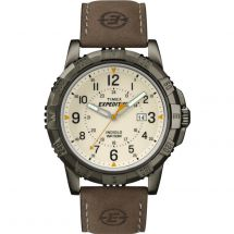 Timex T49990 Analog Natural Colour Dial with Expedition Rugged Metal Wrist Watch