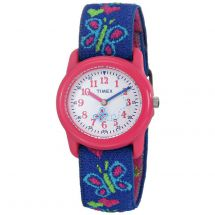 Timex T89001 Easy to Read Fun Rotating Dial Kidz Butterflies & Hearts Watch
