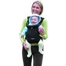 Tomy Freestyle Premium Baby Carrier, Lumbar Support & Padded Harness - Black