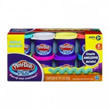 Play-Doh Plus A1206 Variety Pack 8 Cans of Play-Doh Plus in Assorted Colours New
