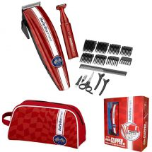 BaByliss 7436RGU Mens Mains Corded Hair Cut Detail Trimmer Clipper Gift Set Red
