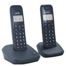 Binatone Veva 1700 Twin Pack DECT Cordless Home Phone Caller ID Display - Black