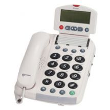 Corded Telephone Speaker Big Buttons Caller ID White