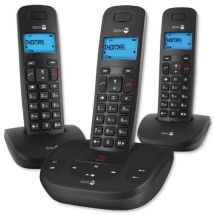 Doro Formula 5 Triple Cordless Telephone Caller ID Display Answering Machine New