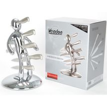 VooDoo 215009 High Quality Stainless Steel Knife Block and 18 Pc Knife Set - New