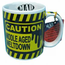 Mad Mugs MM03 Middle Aged Meltdown Mug Outrageous 325ml Ceramic Mug Yellow/Black