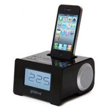 Groov-e GVSP8951 iPhone iPod Compact Speaker Dock System Alarm Clock Radio Black
