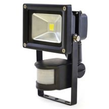 Lloytron L8511 Passive IR 10w LED Floodlight w/ Screw & Rawl Plugs - Black - New