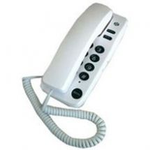Geemarc Corded Home Phone Visual Ringer Indicator White