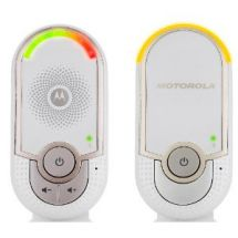 Motorola MBP8 Digital Audio Baby Monitor 1.8GHz DECT 50m Range Night Light White