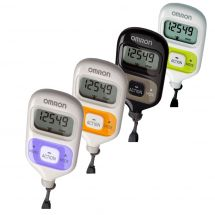 Omron HJ203 Pedometer Walking Style III Step Counter Calorie Measurement - Black