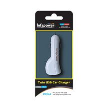 Infapower 12-24V 2100mA Twin USB In-Car Charger P014