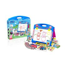Peppa Pig PEPC003 Table Top Easel With Stickers Markers Chalks Pastels And More