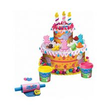 Peppa Pig PEPP003 Birthday Cake Dough Play Set over 10 Accessories and Dough New