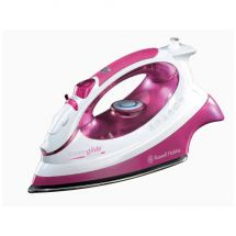 Russell Hobbs 14733 2400w Extra Large Ceramic Soleplate Clothes Steam Iron Pink