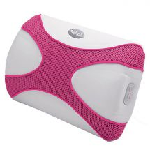 Scholl DRMA7731P X-Pop Massage Cushion Powerful Vibration Soothing Heat USB Pink