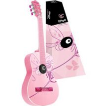 Stagg C510 1/2 Size Childrens Acoustic Classical Guitar Dragonfly Graphic - Pink