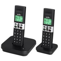 Binatone Style 1810 Twin Pack DECT Digital Cordless Telephone LCD Display Black