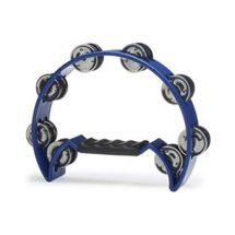 Stagg TAB2 Blue Cutaway Plastic Tambourine With 16 Jingles and Hand Grip - New