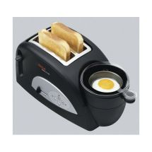 Tefal TT550015 1200W 2-Slice Toaster With Integrated Egg Cooker/Warmer Black New
