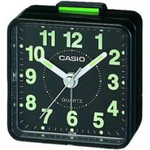 Casio TQ140 Mini Beep Analogue Alarm Clock Black