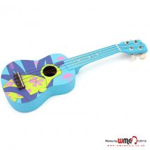 Stagg Soprano Basswood 540mm Ukulele with Carry Case Blue Turtle Graphic Design
