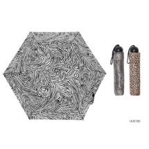 KS Brands UU0186 Ladies Assorted Animal Print 3 Section Supermini Umbrella - New