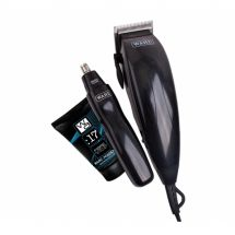 Wahl 79305-805 Mens Deluxe Mains Powered Hair Clipper Trimmer Grooming Gift Set