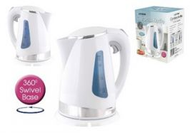 Lloytron E895 1.7 Litre 2.2Kw 360 Cordless Degree Swivel Kettle - White & Silver