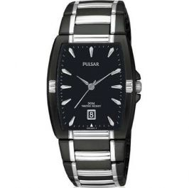 Pulsar Gents Black Ion Plated Watch PG8115X1