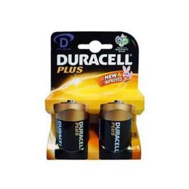 Duracell Plus Advanced MN1300 Standard Size D Alkaline Batteries Twin Pack New