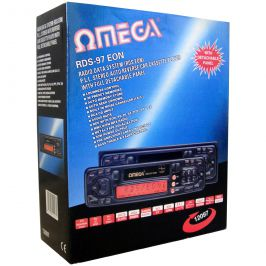 Omega 12097 Car Stereo Cassette Player 4 Channel Output LCD Display 50W Radio