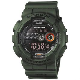 Casio GD100MS/3ER Green G-Shock Watch with Shock Resistant and Display Flasher