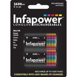 Infapower Rechargeable C Size Ni-MH Multi Usage Batteries 1.2v 2600mAh 2 Pack