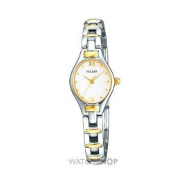 Pulsar PC3266X1 Quartz Analogue Movement Stainless Steel/Gold Bracelet Watch New